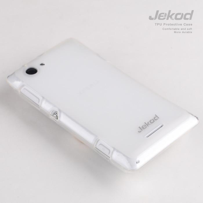 Ochranné silikonové pouzdro JEKOD TPU pro Huawei G710 Ascend bílé