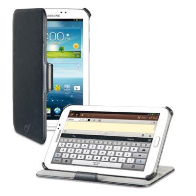 Vyklápěcí pouzdro CellularLine kožené typu kniha Samsung Galaxy TAB 3 7.0 T2100 / T2110 černé