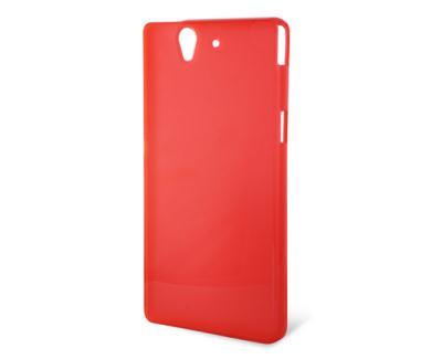 Silikonové pouzdro K6 FLEX TPU Sony Xperia Z C6603 čiré-červené ... 46d77b1aa7c