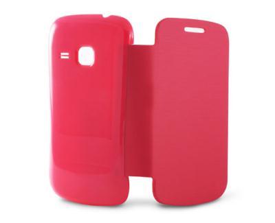Odklápěcí pouzdro K6 Folio Flip pro Samsung S6500 Galaxy Mini 2, růžové B8474FU80R