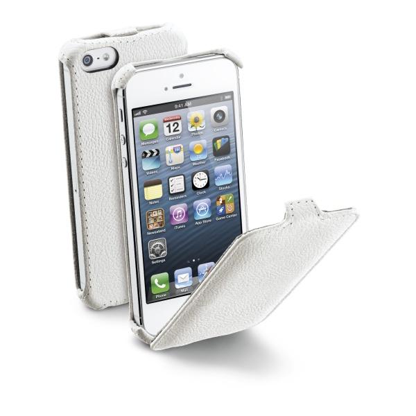 Pouzdro flip na Apple iPhone 5/5S CellularLine bílé