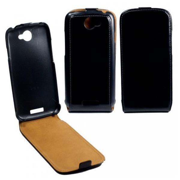 Flipové pouzdro kožené OZBO FLIP Premium pro HTC One S, černé