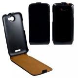 Flipové pouzdro kožené OZBO FLIP Premium pro HTC One X, černé