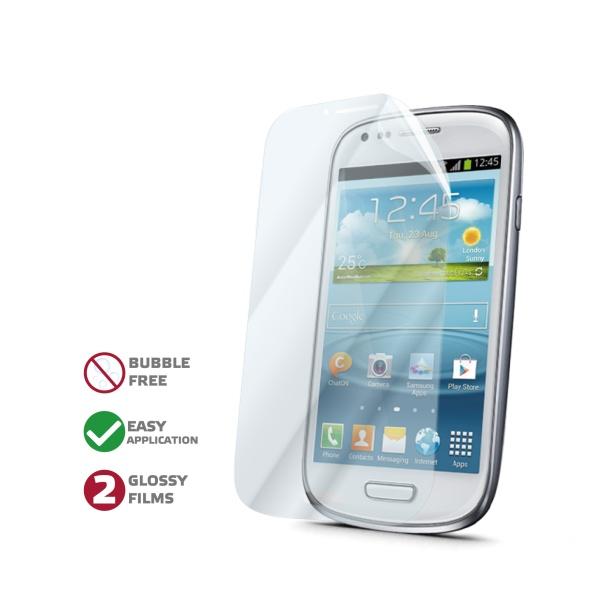 Prémiová ochranná folie displeje CELLY pro Samsung Galaxy S3 Mini, lesklá, 2ks