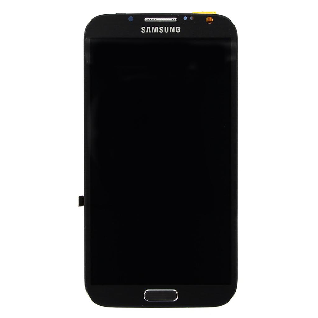 LCD displej + dotyková deska Grey pro Samsung N7105 LTE Galaxy Note2 - originál