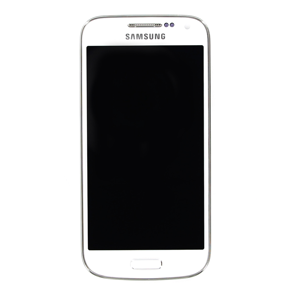 LCD Display + Dotyková Deska + Přední Kryt White pro Samsung i9195 Galaxy S4 mini - originál