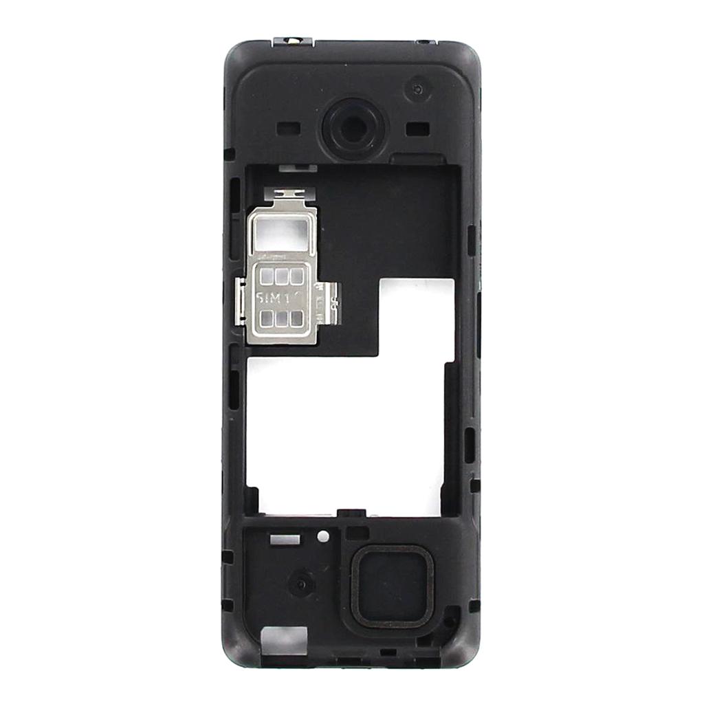 Střední Kryt Nokia 206 Black