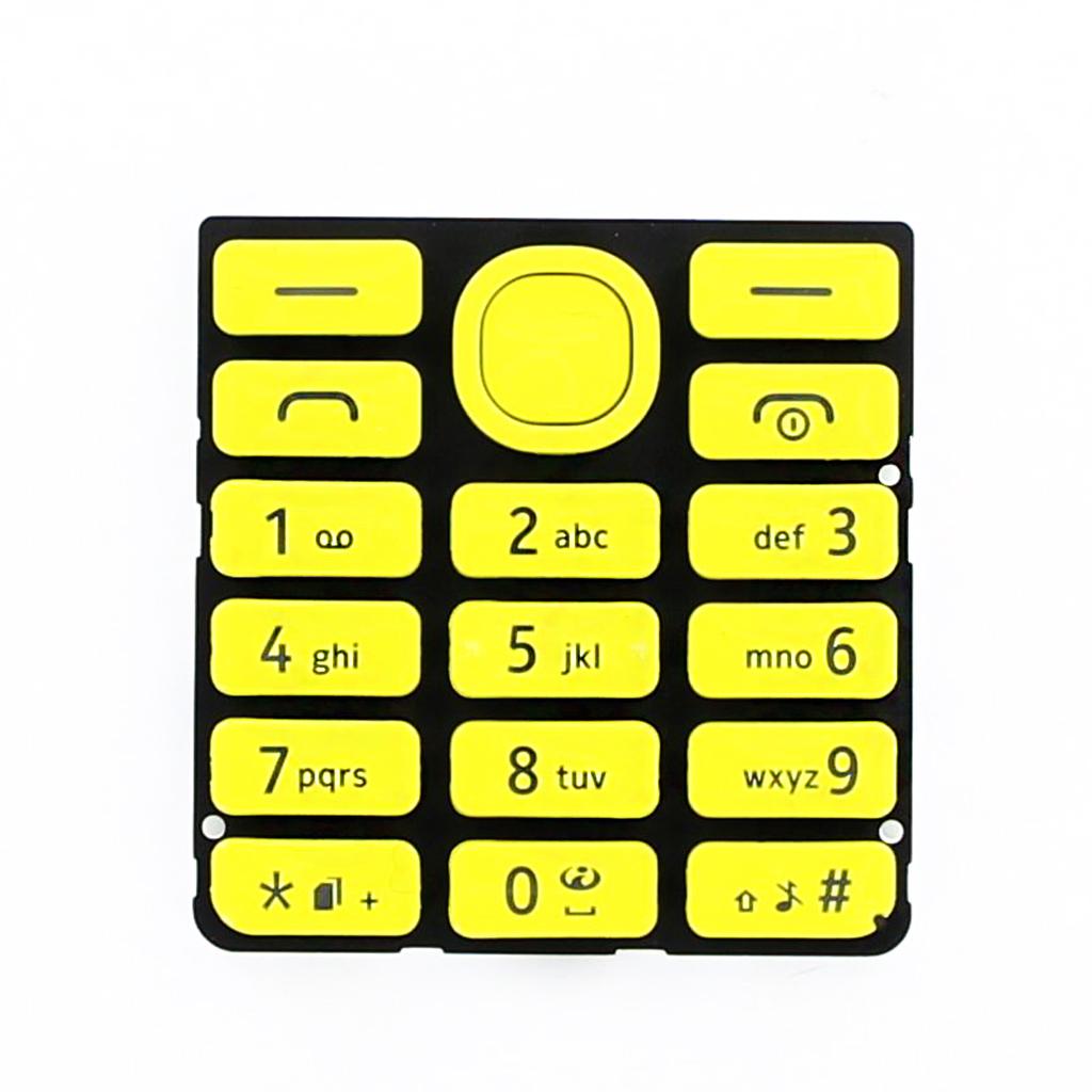 Klávesnice pro Nokia 206 DUAL SIM, yellow - VÝPRODEJ!!