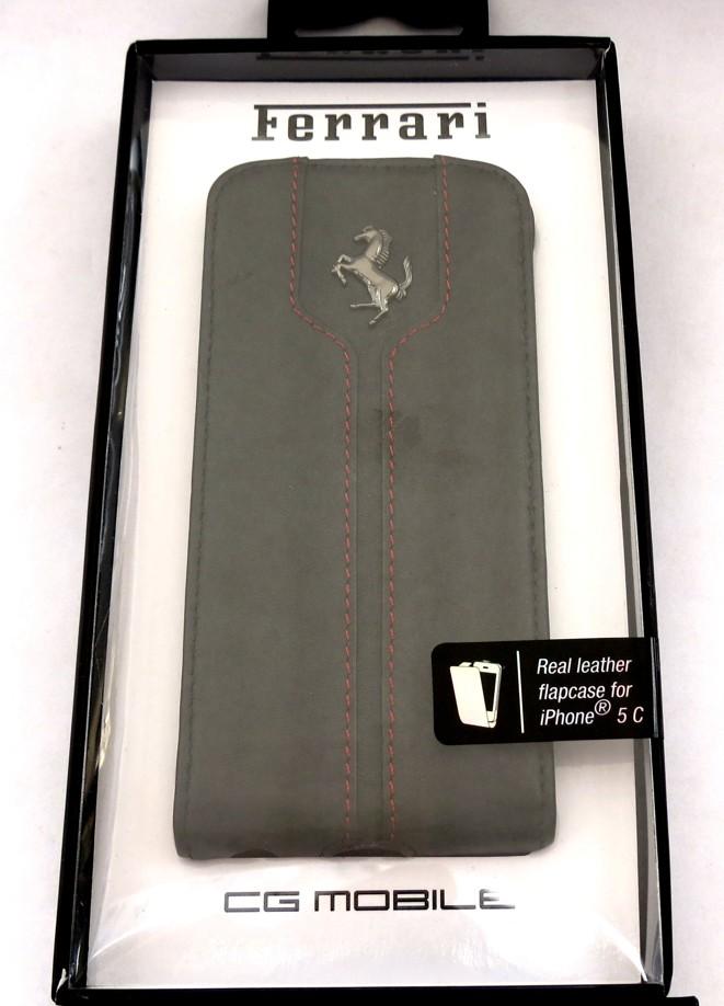 Flipové otevírací pouzdro FEMTFLPMBL Ferrari Monte Carlo Flip pro iPhone 5C Black