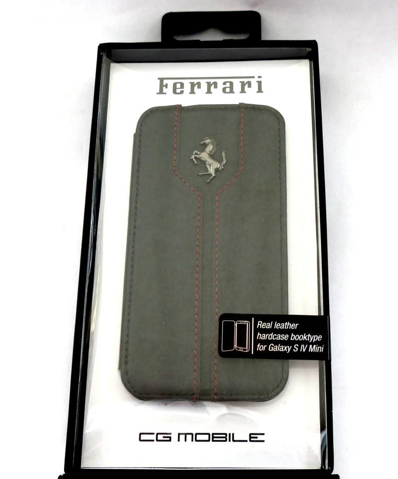 Kožené otevírací pouzdro FEMTFLBKS4MB Ferrari Monte Carlo Book pro Samsung i9195 Galaxy S4 mini Black