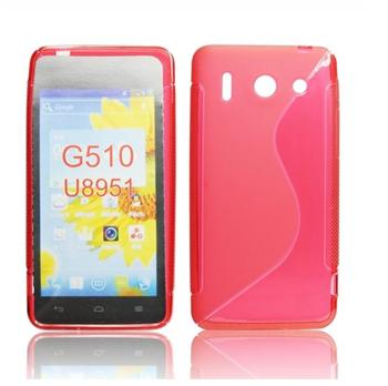 ForCell Lux S Pouzdro Huawei Ascend G510 červené