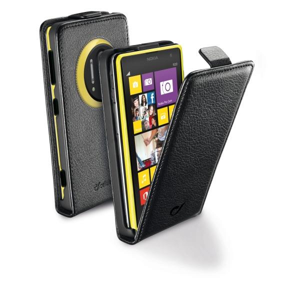 Pouzdro CellularLine Flap Essential pro Nokia Lumia 1020, PU kůže, černé