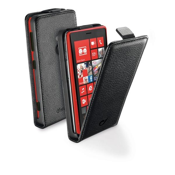 Vyklápěcí pouzdro CellularLine Flap Essential pro Nokia Lumia 1520, PU kůže, černé