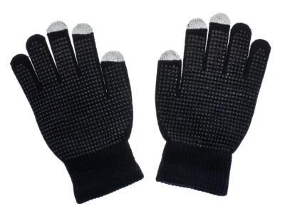 Rukavice na dotykový displej GLITTER černé