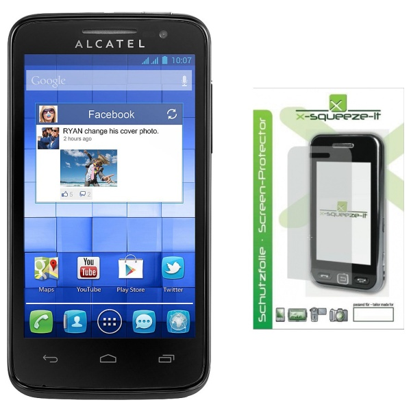 Ochranná fólie displeje x-Squeeze-IT pro Alcatel One Touch 5020D M´POP, lesklá, 2ks