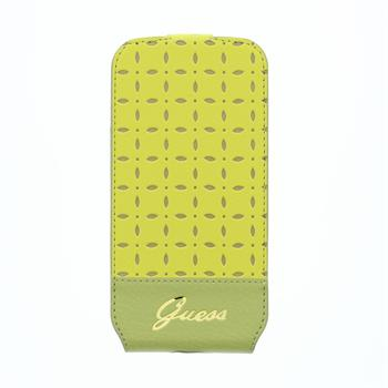 GUFLS4MPEY Guess Gianina Flip Kožené Pouzdro Yellow pro Samsung i9195 Galaxy S4mini