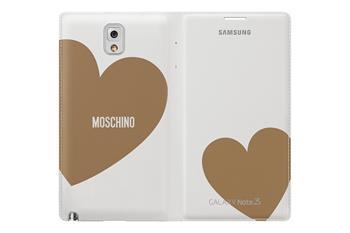 Samsung flipové pouzdro s kapsou Moschino EF-EN900BDE pro Galaxy Note 3 (i9005) White/Gold