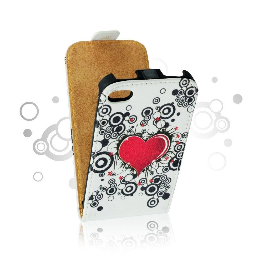 ForCell Slim Flip Pouzdro Srdce vzor3 pro Sony C1905 Xperia M ... 3e423b40e73