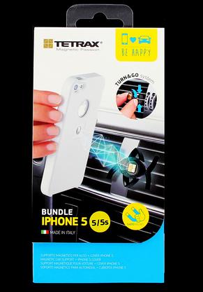 Držák Tetrax SMART + pouzdro XCase iPhone 5/5S White