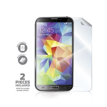 Screen protector CELLY ochranná folie pro displej Samsung G900 Galaxy S5 2ks, lesklá