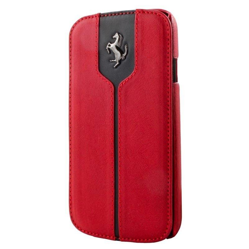 Ochranné otevírací pouzdro FEMTFLBKS4RE Ferrari Monte Carlo Book pro Samsung i9505 Galaxy S4, red