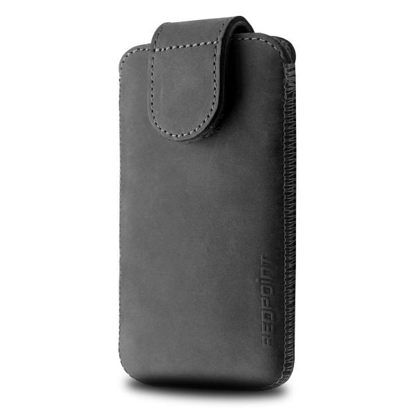 Kožené pouzdro na mobil RedPoint Posh velikost 3XL černé