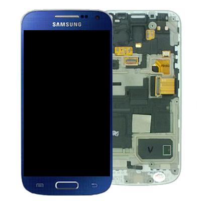 LCD Displej + Dotyková Deska + Přední Kryt Blue pro Samsung i9195 Galaxy S4 mini - originál