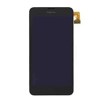 LCD Display + Dotyková plocha + Přední Kryt Black pro Nokia Lumia 630 - originál
