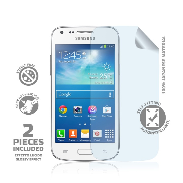 Prémiová ochranná fólie displeje CELLY pro Samsung Galaxy Core Plus/Duos, lesklá, 2ks