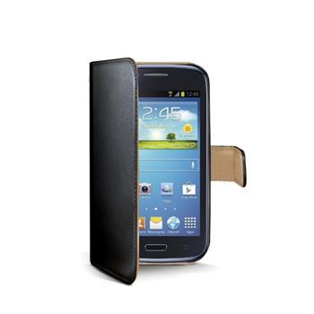 Ochranné kožené pouzdro typu kniha CELLY Wally pro Samsung i8262 Galaxy Core, černé