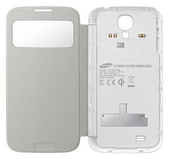 Flipové vyklápěcí pouzdro Samsung Flip S-view EF-TI950BB s bezdrátovým nabíjením pro Samsung Galaxy S4 (i9505) White