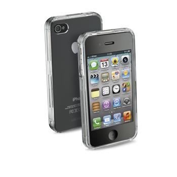 Ochranné pouzdro CellularLine Invisible pro Apple iPhone 4/4S průhledné + folie