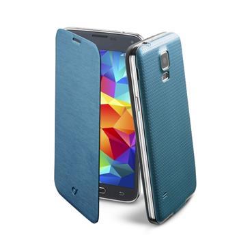 Flip Book pouzdro typu kniha CellularLine Backbook pro Samsung Galaxy S5 (G900), modré