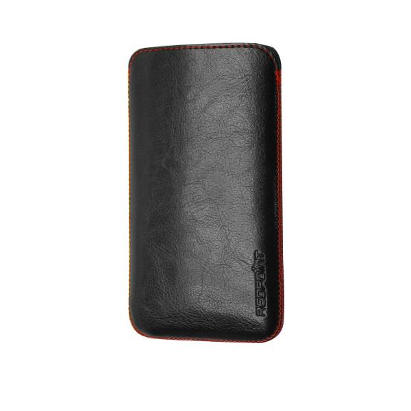Kožené univerzální pouzdro RedPoint Blaze, pull out, velikost S, černé