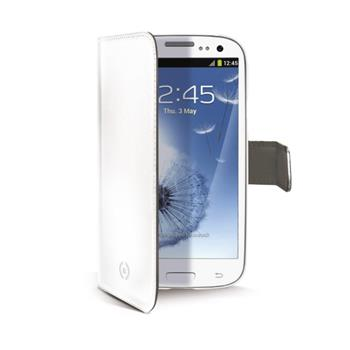 Flipové pouzdro typu kniha CELLY Wally pro Samsung i9300 Galaxy S3, bílé