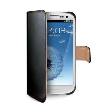 Flipové pouzdro typu kniha CELLY Wally pro Samsung i9300 Galaxy S3, černé