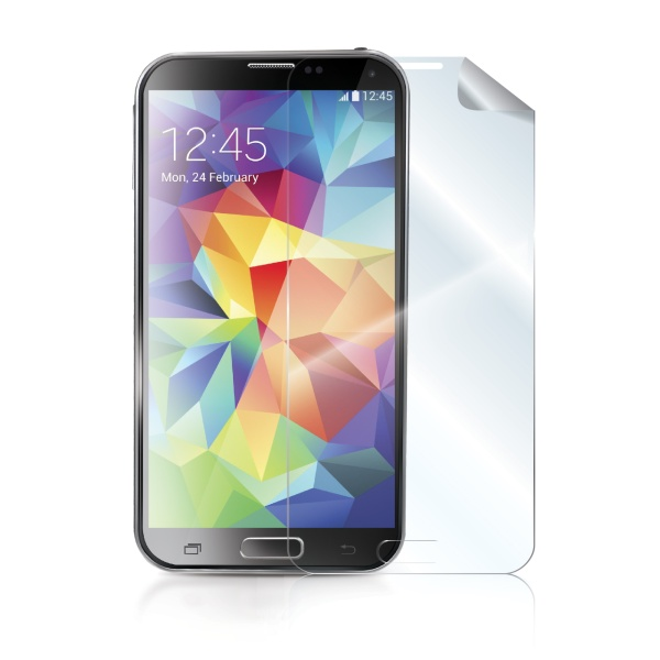 Prémiová ochranná fólie na displej CELLY pro Samsung Galaxy S5 (G900), lesklá, 2ks