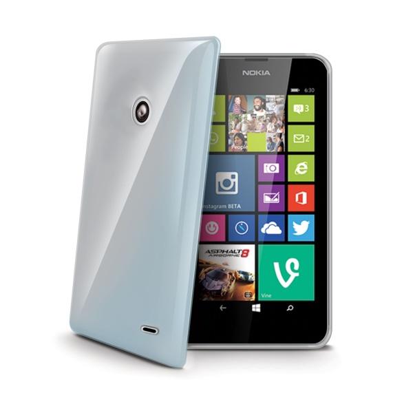 Silikonové TPU pouzdro CELLY Gelskin pro Nokia Lumia 630, bezbarvé