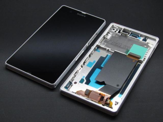 LCD Display + Dotyková Deska + Přední Kryt Purple pro Sony C6903 Xperia Z1 - originál