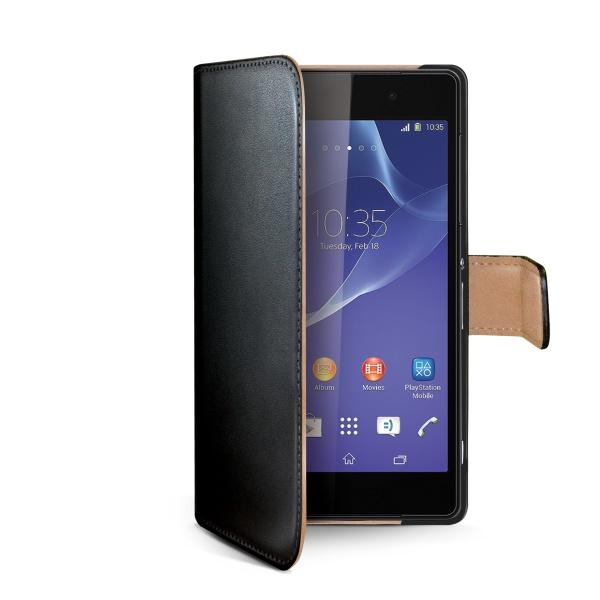Pouzdro CELLY Wally pro Sony Xperia Z2 PU kůže černé