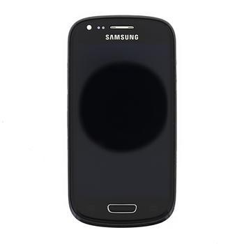 LCD display + Dotyková deska + Přední kryt Black pro Samsung i8200 Galaxy S3 mini VE - originál