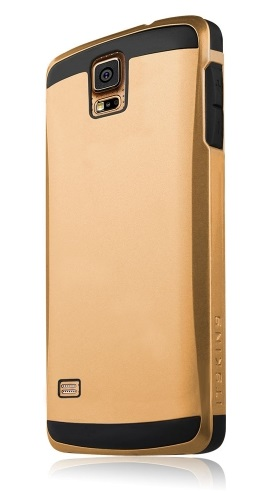 Pouzdro itSkins Evolution pro Samsung G900 Galaxy S5, zlaté + folie
