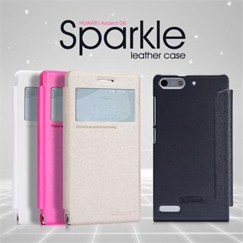 Flip pouzdro Nillkin Sparkle S-View pro Huawei Ascend G6, bílé