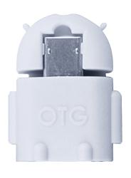 OTG Adaptér microUSB/USB, bílý