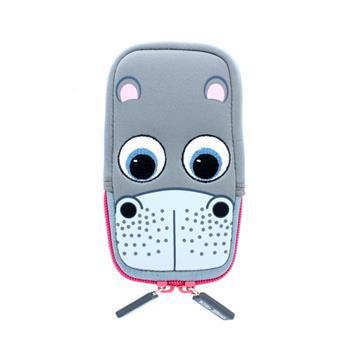 Univerzální stylové pouzdro TabZOO pro mobilní telefony, motiv hroch