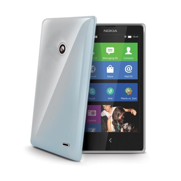 Silikonové TPU pouzdro CELLY Gelskin pro Nokia X+, bezbarvé