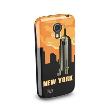 Silikonové TPU pouzdro CellularLine Vintage pro Samsung i9195 Galaxy S4 Mini, motiv New York