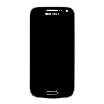 LCD Displej + Dotyková Deska + Přední Kryt Black Edition pro Samsung i9195 Galaxy S4 mini - originál