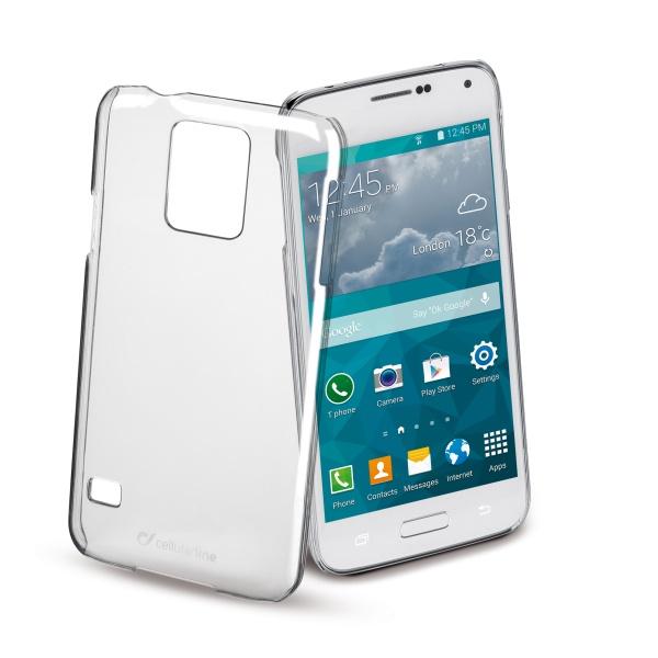 Ochranné pouzdro CellularLine Invisible pro Samsung G800 Galaxy S5 Mini, průhledný