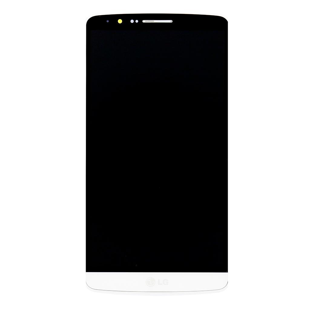 LG D855 G3 LCD Display + Dotyková Deska + Přední Kryt White